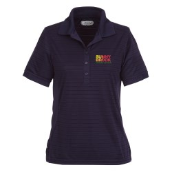 View a larger, more detailed picture of the Koryak Striped Moisture Wicking Polo - Ladies