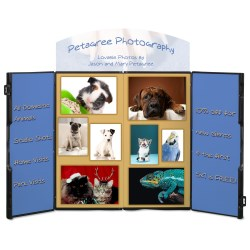 View a larger, more detailed picture of the Double Fold Tabletop Display - 4 - Full Color