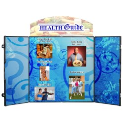 View a larger, more detailed picture of the Double Fold Tabletop Display - 6 - Full Color