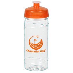 View a larger, more detailed picture of the Clear Impact PolySure Cyclone Sport Bottle - 16 oz