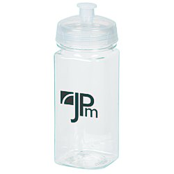 View a larger, more detailed picture of the Clear Impact PolySure Squared-Up Sport Bottle - 16 oz