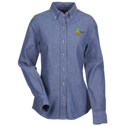 View a larger, more detailed picture of the Button Collar Chambray Shirt - Ladies