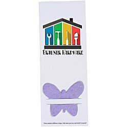 View a larger, more detailed picture of the Plant-A-Shape Flower Seed Bookmark - Butterfly