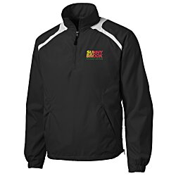 View a larger, more detailed picture of the Shoulder Accent 1 2 Zip Sport Windshirt