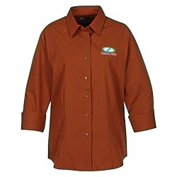 View a larger, more detailed picture of the Superblend 3 4 Sleeve Poplin Shirt - Ladies