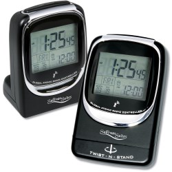 View a larger, more detailed picture of the Global Atomic Travel Alarm Clock - Closeout