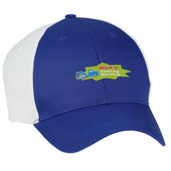View a larger, more detailed picture of the Two-Tone Polyester Cap - Embroidered