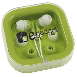 View a larger, more detailed picture of the Ear Buds w Interchangeable Covers - Colors