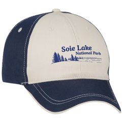 View a larger, more detailed picture of the Two-Tone Polyester Cap with Contrast Stitch - Transfer