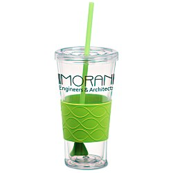 View a larger, more detailed picture of the Rotation Tumbler with Straw - 20 oz