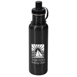 View a larger, more detailed picture of the Adventure Stainless Steel Water Bottle - 28 oz - Closeout