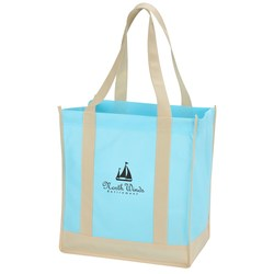 View a larger, more detailed picture of the Two-Tone Shopping Bag - Closeout