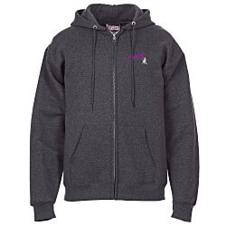View a larger, more detailed picture of the Hanes Ultimate Cotton Full-Zip Hoodie - Embroidery