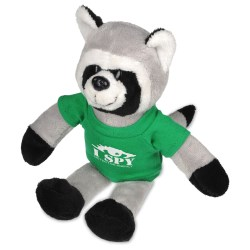 View a larger, more detailed picture of the Mascot Beanie Animal - Raccoon