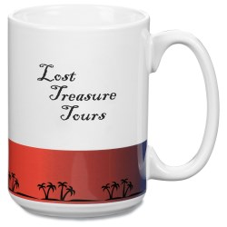 View a larger, more detailed picture of the Jamaica El Grande Mug - 15 oz - Palm - Closeout