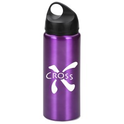 View a larger, more detailed picture of the Aluminum Wide Mouth Bottle - 25 oz - Closeout