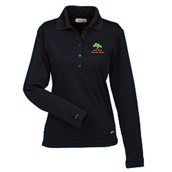 View a larger, more detailed picture of the Brecon Long Sleeve Moisture Wicking Polo - Ladies