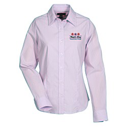 View a larger, more detailed picture of the Garnet Striped Dress Shirt - Ladies