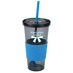 View a larger, more detailed picture of the Smoky Revolution Tumbler w Straw - 24 oz - 24 hr