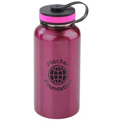 View a larger, more detailed picture of the h2go Wide Stainless Sport Bottle - 40 oz - Closeout
