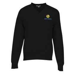 View a larger, more detailed picture of the Ultra-Soft Cotton V-Neck Sweater - Men s - 24 hr