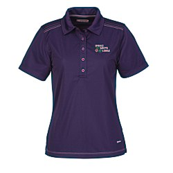 View a larger, more detailed picture of the Dunlay MicroPoly Textured Polo - Ladies - 24 hr