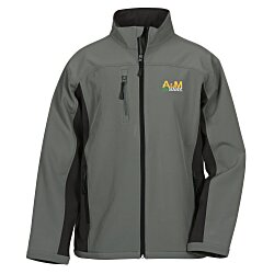View a larger, more detailed picture of the Devon & Jones Colorblock Soft Shell Jacket - Men s