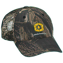 View a larger, more detailed picture of the Outdoor Cap Mesh Camo Hat - Mossy Oak Break-Up