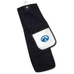 View a larger, more detailed picture of the Microfiber Golf Towel w Scrubber