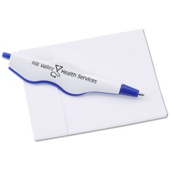 View a larger, more detailed picture of the Cliptrax Pen and Adhesive Note Pad Set-Closeout