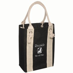 View a larger, more detailed picture of the Rope Handle Jute Boat Tote