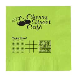 View a larger, more detailed picture of the Colorware Beverage Napkin - 2-ply - Color - Low Qty - Game
