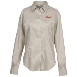 View a larger, more detailed picture of the Van Heusen Sateen Stretch Shirt - Ladies
