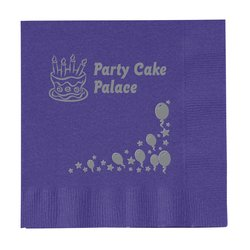 View a larger, more detailed picture of the Colorware Beverage Napkin - 2-ply - Color-Low Qty-Celebrate