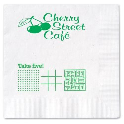 View a larger, more detailed picture of the Beverage Napkin - 2-ply - White - Game