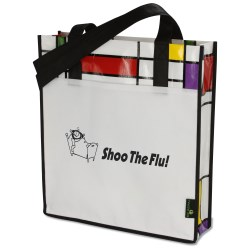 View a larger, more detailed picture of the Laminated Geometric Mondrian Convention Tote