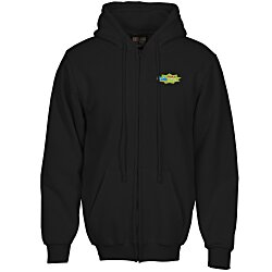 View a larger, more detailed picture of the Bayside USA Made Full Zip Hoodie - Embroidered