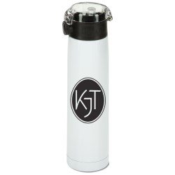 View a larger, more detailed picture of the h2go Aspen Vacuum Stainless Sport Bottle - 24 oz - 24 hr