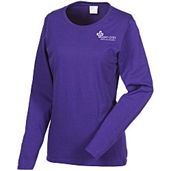 View a larger, more detailed picture of the Gildan 5 3 oz Cotton LS T-Shirt - Ladies - Screen - Colors