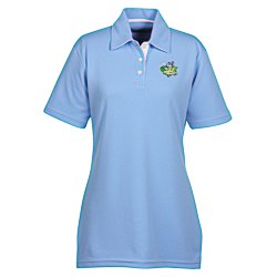 View a larger, more detailed picture of the UltraClub Platinum Performance Birdseye Polo - Ladies