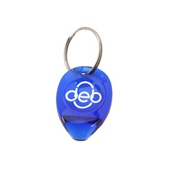 View a larger, more detailed picture of the Tear Drop Lottery Scratcher Key Tag - Translucent