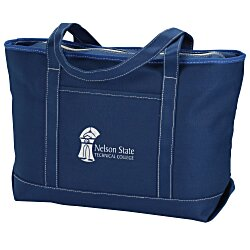 View a larger, more detailed picture of the Solid Cotton Yacht Tote - Colors - 14 x 24