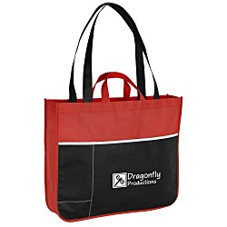 View a larger, more detailed picture of the Double Handle Pocket Tote - 24 hr