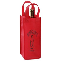 View a larger, more detailed picture of the Single Bottle Wine Tote - Closeout