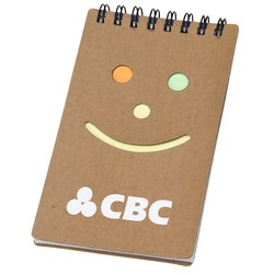 View a larger, more detailed picture of the Smiley Sticky Jotter - Closeout