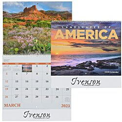 View a larger, more detailed picture of the Landscapes of America Calendar English - Spiral