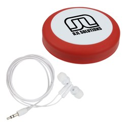 View a larger, more detailed picture of the Puck Ear Bud Wrap w Ear Buds - Closeout