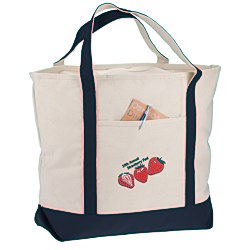 View a larger, more detailed picture of the Harbor Cruise Boat Tote - 16 x 22 - Embroidered