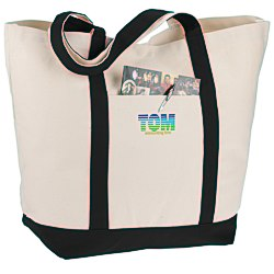 View a larger, more detailed picture of the Admiral s Boat Tote - 16 x 22 - Embroidered
