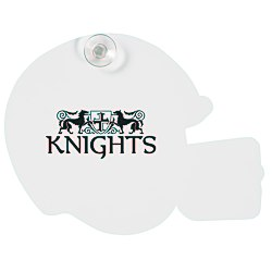 View a larger, more detailed picture of the Window Sign - Football Helmet - Paper - White